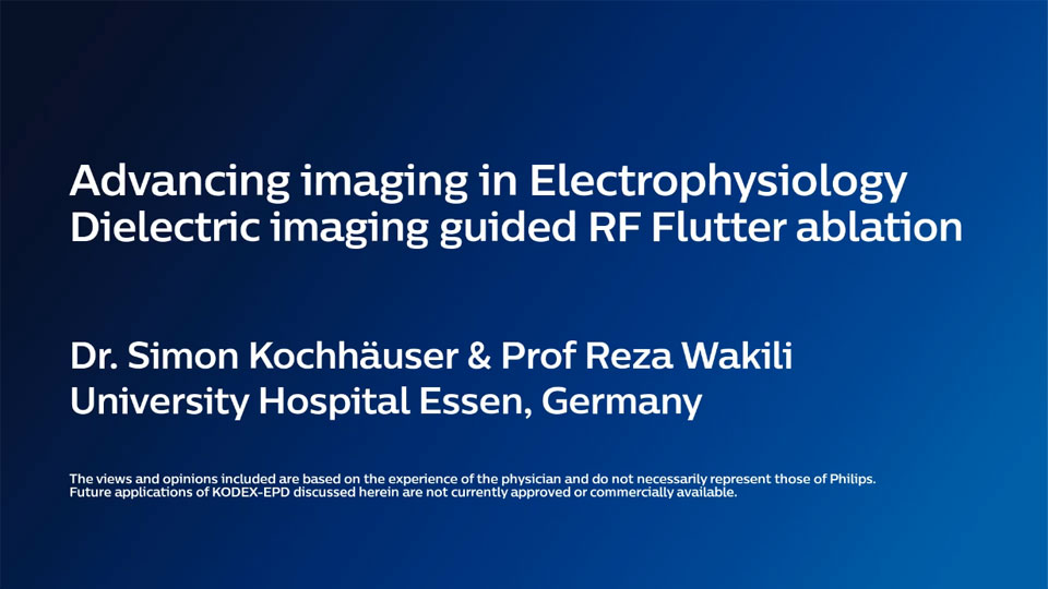 Advancing imaging in Electrophysiology Dielectric imaging guided GF Flutter ablation