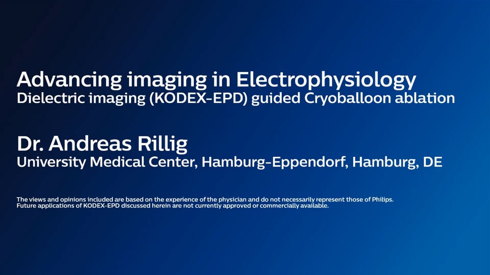 Advancing imaging in Elextrophysiology Dielectric imaging (KODEX-EPD) guided Cryoballoon ablation