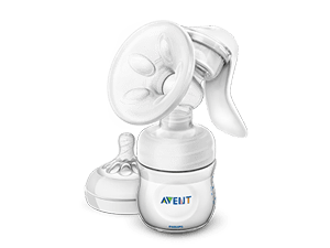 Manual breast pump and nipples Philips Avent