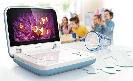Philips portable DVD Player mit spritzwassergeschützem Design