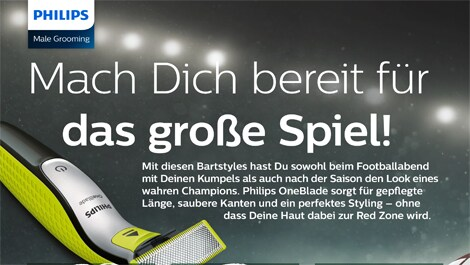 philips OneBlade SuperBowl