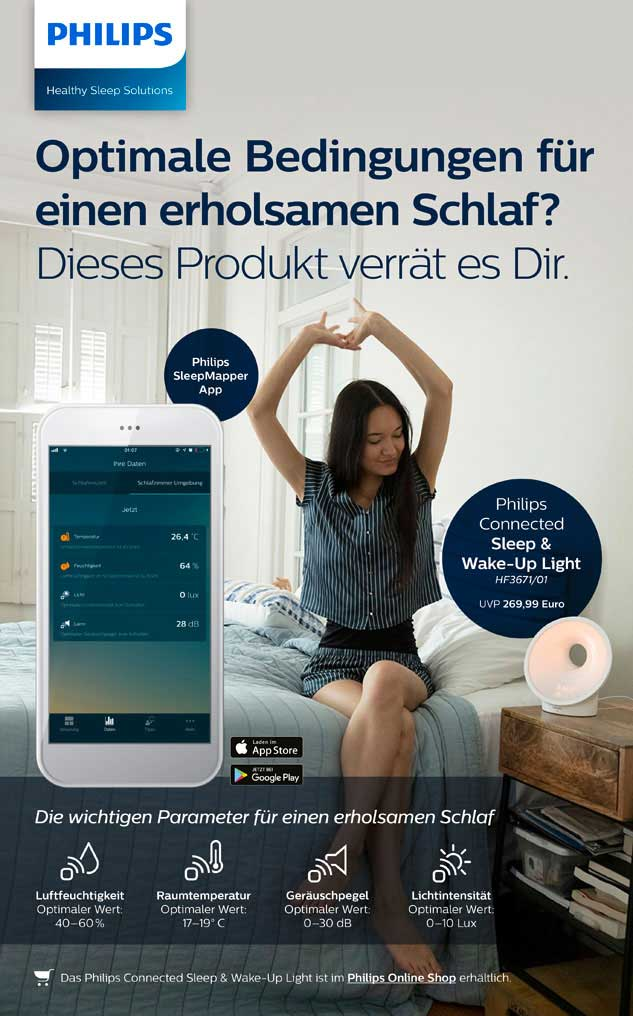 Philips connected sleep and wake up light